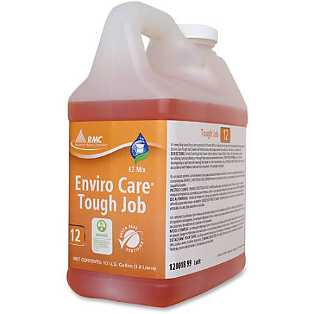 RMC Enviro Care Tough Job Cleaner - Concentrate Liquid - 0.50 gal (64.25 fl oz) - 4 / Carton - Orange