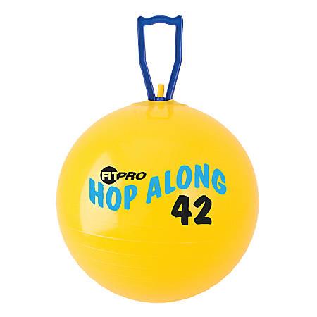 "Champion Sports FitPro Pon Pon Hop-Along Ball, 16 1/2"", Yellow"