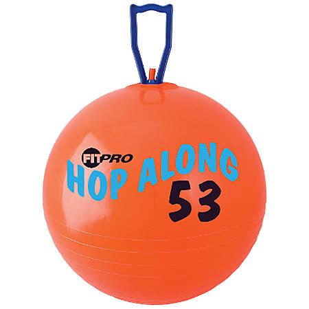 "Champion Sports FitPro Pon Pon Hop-Along Ball, 20 1/2"", Red"