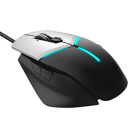 """Dell™ Alienware AW958 Elite Gaming Mouse, 5.12""""H x 3.78""""W x 1.59""""D, Black/Gray, 7XGRK"""