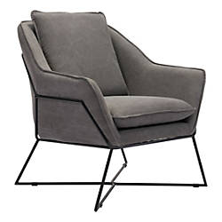 Zuo Modern Lincoln Lounge Chair GrayBlack