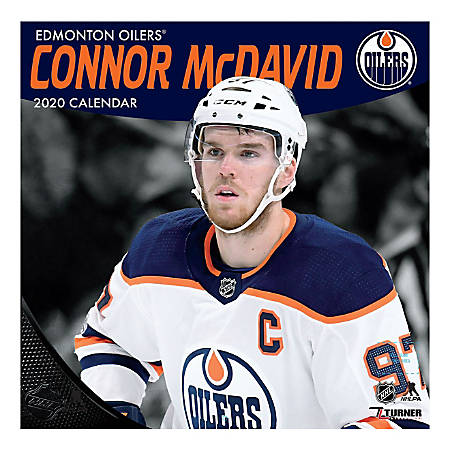 """Turner Licensing Monthly Wall Calendar, 12"""" x 12"""", Connor McDavid, 2020"""