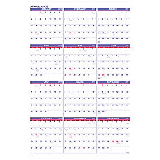 AT A GLANCE Yearly Wall Calendar