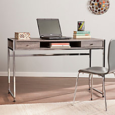 Southern Enterprises Norcross Particleboard Desk Weathered
