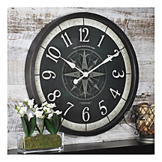 FirsTime Co Compass Rose Round Wall