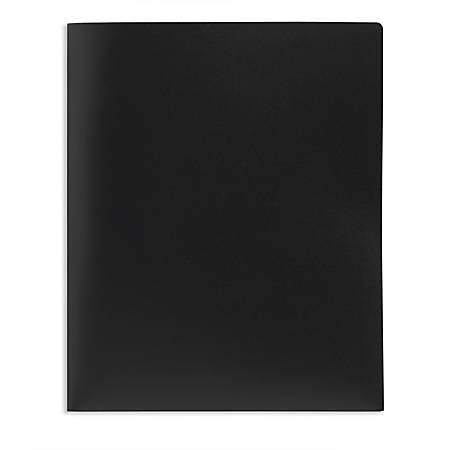 Office Depot® Brand School-Grade 2-Pocket Poly Folder, Letter Size, Black