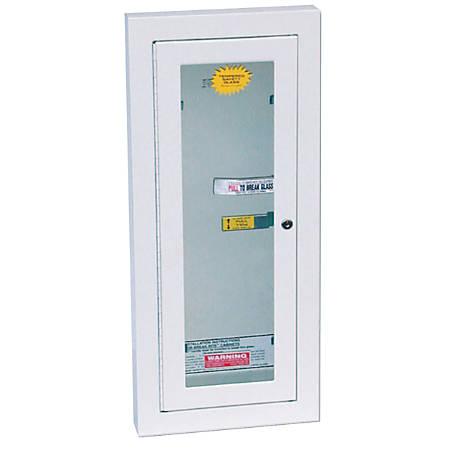 Extinguisher Cabinets, Semi-Recessed w/Keyed Lock, Galvanized Steel, Tan, 10 lb