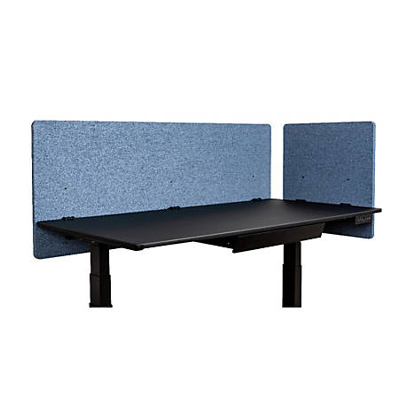 """Luxor RECLAIM Acoustic Privacy Desk Panels, 60""""W, Pacific Blue, Pack Of 2"""