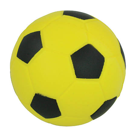 Champion Sports Foam Soccer Ball, No. 4, Black/Yellow