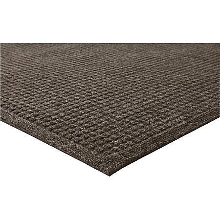 "Genuine Joe Ecoguard Floor Mat - Building - 72"" Length x 48"" Width - Rectangle - Fiber - Brown"