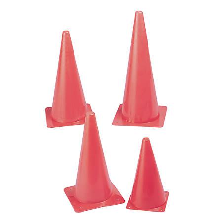 "Champion Sports Safety Cone, 15"", Fluorescent Orange"