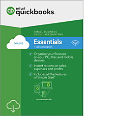 QuickBooks Online Essentials 2018 1 Year