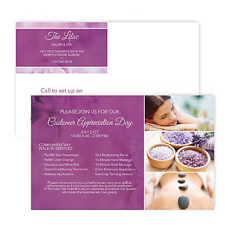 """Custom Full-Color Large Postcards, Printed 2-Sides, 8"""" x 5"""", Box of 50"""