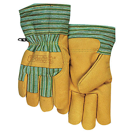 Cold Weather Gloves, Large, Pigskin, Gold