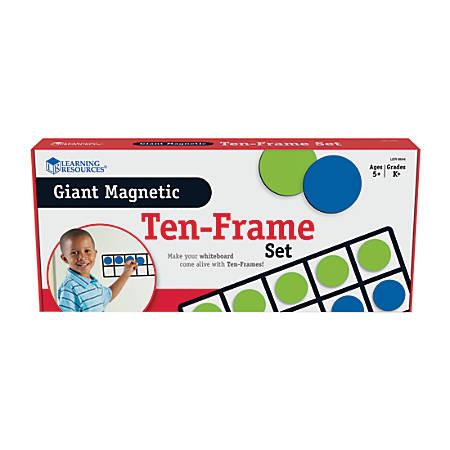 "Learning Resources® Giant Magnetic 10-Frame Set, 5"" x 12 1/4"", Grades K - 9"