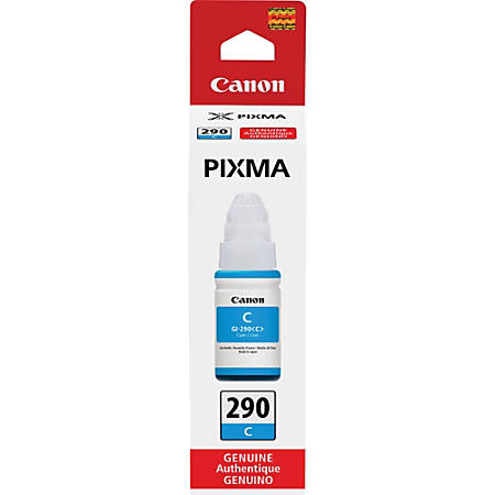 Canon PIXMA GI-290 Ink Bottle - Inkjet - Cyan - 7000 Pages - 2.37 fl oz - 1 Each