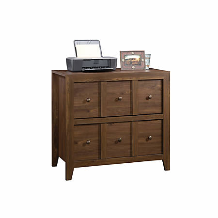 "Sauder® Anywhere Solutions Filing Cabinet, 2 Drawers, 33 1/2""H x 36 3/10""W x 19 1/2""D, Rum Walnut"