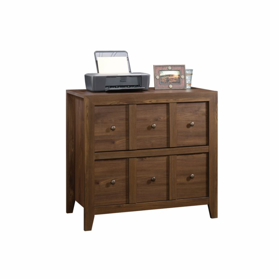 Sauder Anywhere Solutions Filing Cabinet 2 Drawers 33 12 H X 36 310 W X 19  12 D Rum Walnut By Office Depot U0026 OfficeMax
