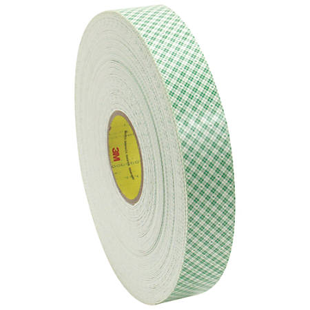 "3M™ Medium-Duty Double-Sided Foam Tape, 3"" Core, 3/4"" x 108', Natural"