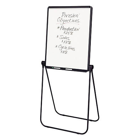 "Quartet® Ultima Easel, Whiteboard/Flipchart, 27"" x 34"", Reversible, Black Frame"