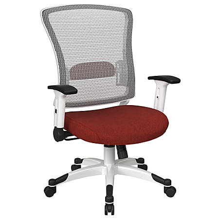 Office Star™ Space Seating Mesh Mid-Back Chair, Cherry/White