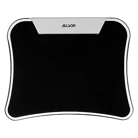 """Allsop® LED Mouse Pad/USB Hub, 9"""" x 11"""", Black"""