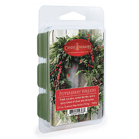 Candle Warmers Etc Wax Melts, Pepperberry Wreath, 2.5 Oz, Case Of 4 Packs