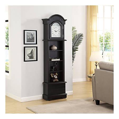 FirsTime & Co.® Gears Grandfather Clock, Satin Black