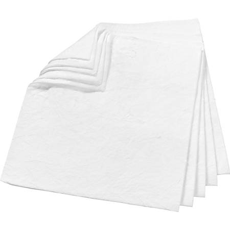 """3M High-Capacity Oil Absorbent Pads - 17"""" Height x 19"""" Width - 100/Carton - White"""