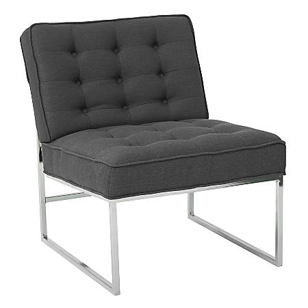 Ave Six Anthony Guest Chair, Klein Charcoal/Chrome