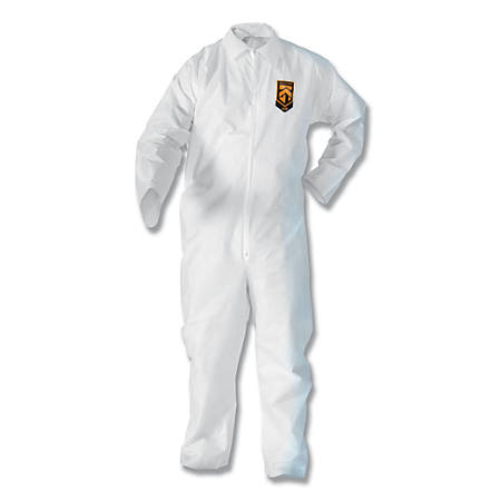 KLEENGUARD A20 Breathable Particle Protection Coveralls, XL, No Elastic, Zip
