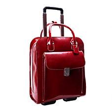 McKlein Uptown Vertical Wheeled Briefcase with