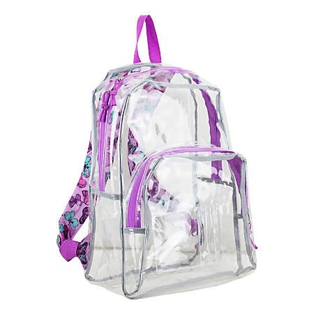 Eastsport Clear PVC Backpack, Butterflies