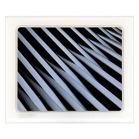 "Allsop® Cupertino Mouse Pad, 9"" x 10.75"", Crossover, Black/White"