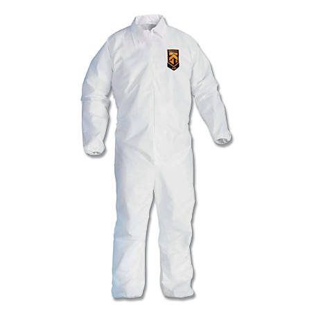 KLEENGUARD A20 Breathable Particle Protection Coveralls, XL, Elastic, Zip