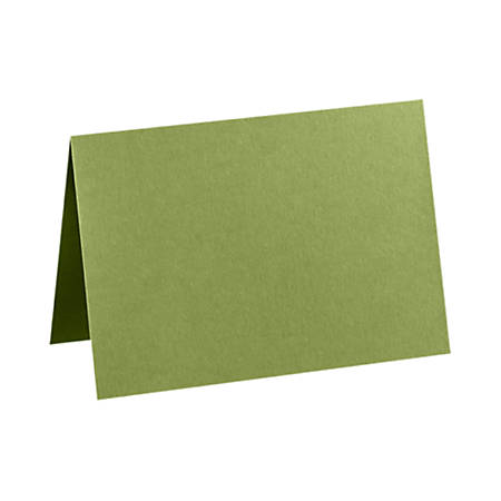"LUX Folded Cards, A2, 4 1/4"" x 5 1/2"", Avocado Green, Pack Of 50"