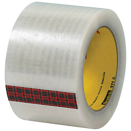 "3M™ 371 Carton Sealing Tape, 3"" Core, 3"" x 110 Yd., Clear, Case Of 6"