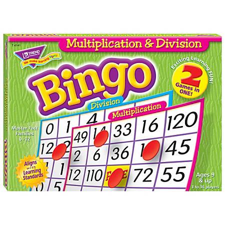 Trend Enterprise Multiplication & Division Bingo Games