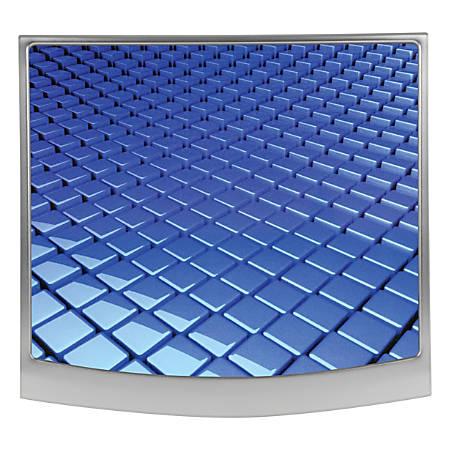 """Allsop® Redmond Mouse Pad, 10.75"""" x 10"""", Grid, Blue/Silver"""