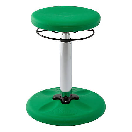 "Kore Kids Adjustable Wobble Chair, 15 1/2"" to 21 1/2""H, Green"