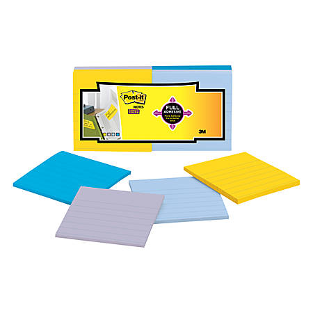 """Post it® Super Sticky Full Stick Notes, 3"""" x 3"""", New York, Pack Of 12 Pads"""