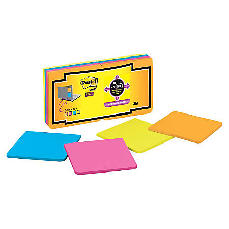 """Post it® Super Sticky Full Stick Notes, 3"""" x 3"""", Rio De Janeiro, Pack Of 16 Pads"""