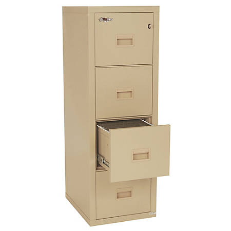 FireKing® Turtle® 4-Drawer Insulated Fireproof Filing Cabinet, Dock-To-Dock Delivery