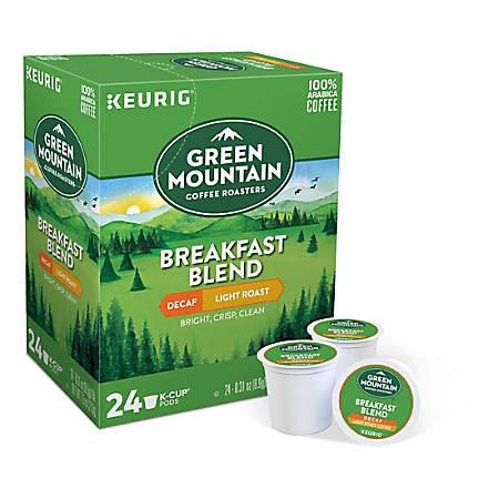 Green Mountain Coffee® Breakfast Blend Decaffeinated Coffee Single-Serve K-Cup®, Carton Of 24