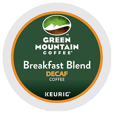 Green Mountain Coffee® Breakfast Blend Decaffeinated Coffee K-Cup® Pods, Box Of 24 Pods