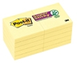 """Post-it® Super Sticky Notes, 2"""" x 2"""", Canary Yellow, Pack Of 10 Pads"""