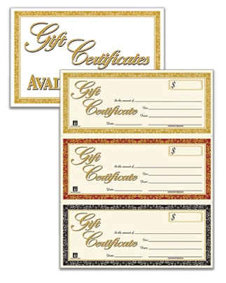 Adams Gift Certificates Kit Pack Of Certificates By Office Depot - Gftlz gift certificate template