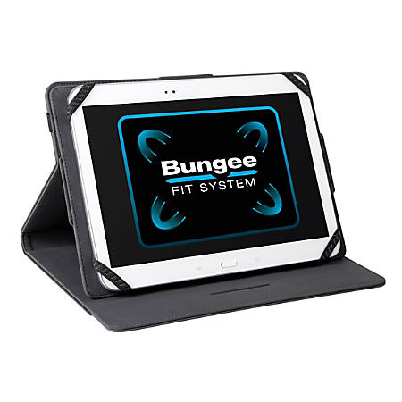 """Targus Universal THZ457 Carrying Case for 10.1"""" Tablet - Black - Faux Leather, Polyurethane - 10.6"""" Height x 7.9"""" Width x 0.8"""" Depth"""
