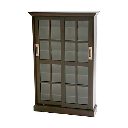 Southern Enterprises Sliding-Door Media Cabinet, Espresso