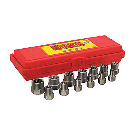"IRWIN Professional Bolt Extractor Set, 3/8"" Drive, 13-Extractors"